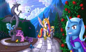 Celestia and ponies