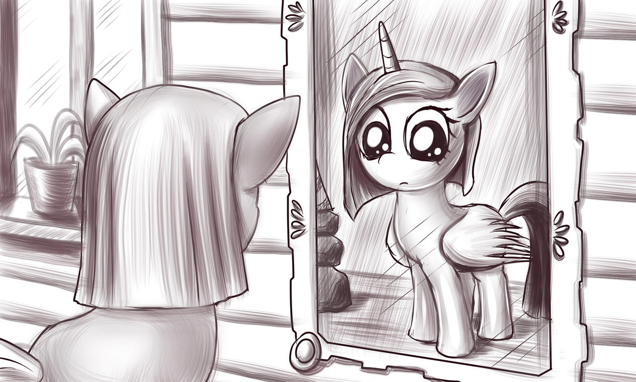 Pinkie Pie and Magic Mirror by alexmakovsky