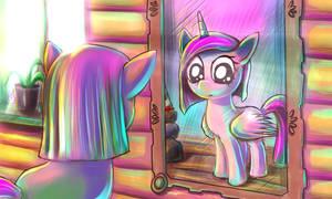 Pinkie Pie n Magic Mirror (Color)