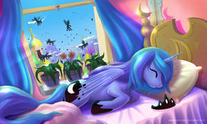 Princess Luna is sleeping angel