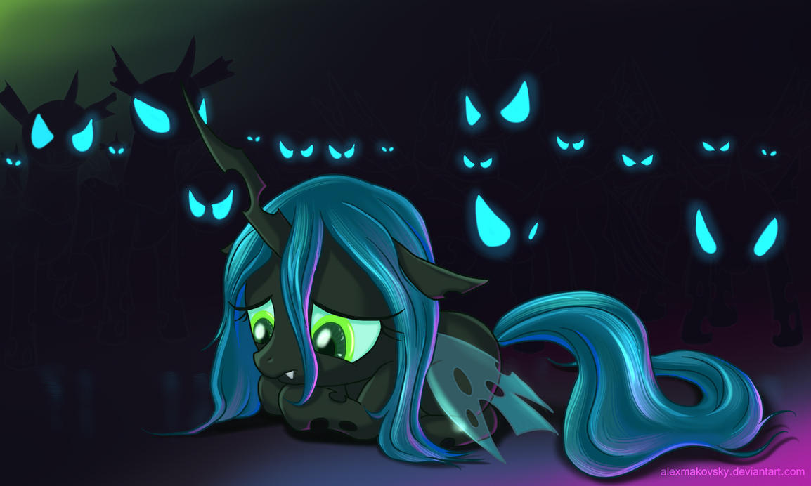 Little princess Chrysalis by alexmakovsky