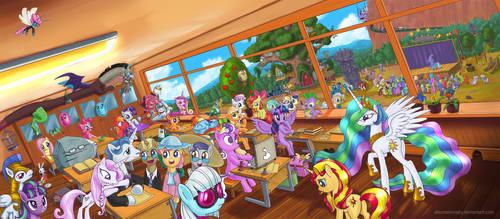 Equestria School by alexmakovsky