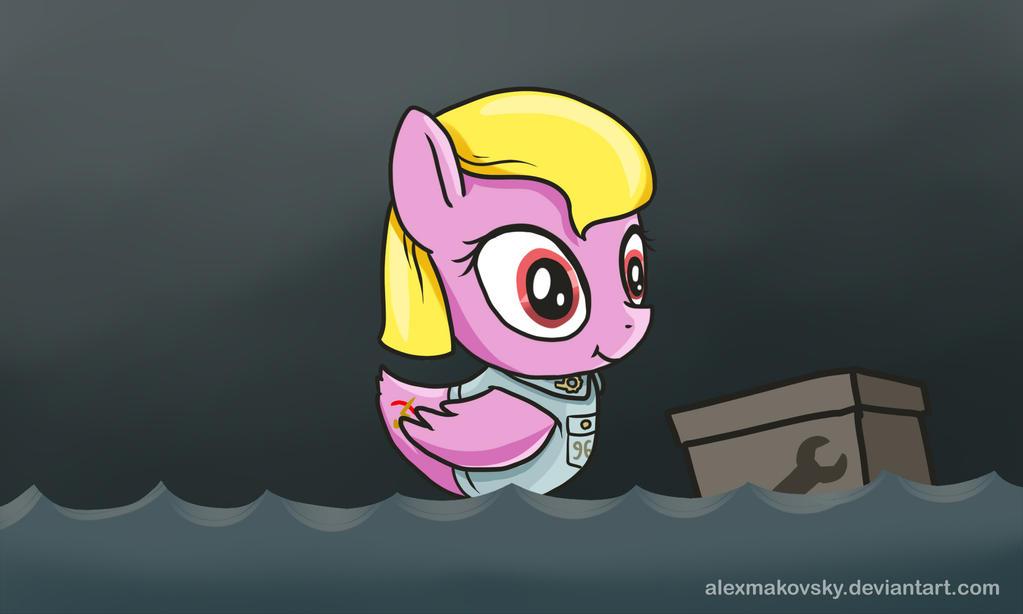 Fliying Teapot Pony by alexmakovsky