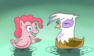 Pinkie Pie and Gilda