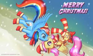 Merry XMas Flutty n Rainbow