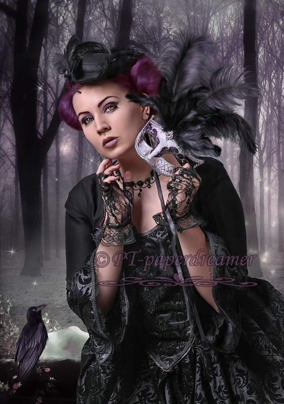 Gothic Forest by PaperDreamerArt