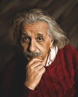 Albert Einstein by PaperDreamerArt