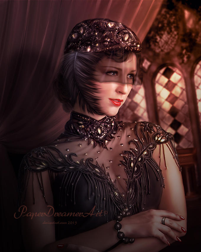 The Rich Widow by PaperDreamerArt