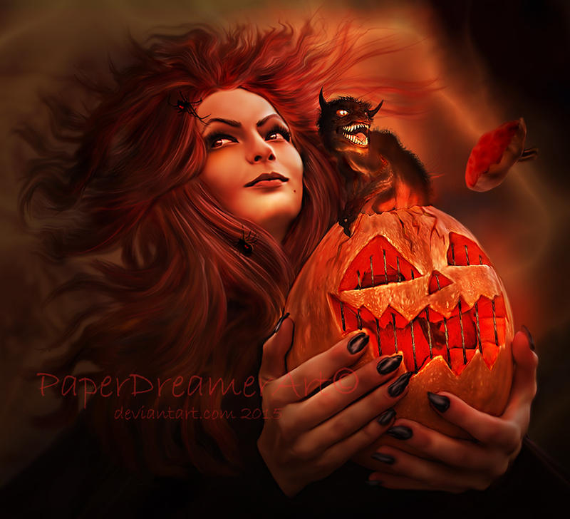 Trick or Treat by PaperDreamerArt