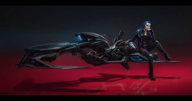 Tesla Space Chopper by Bogdan-MRK