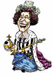 Cartoon of Queen Elizabeth