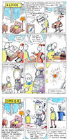 Alpha and Omega Comic Strip by m99art