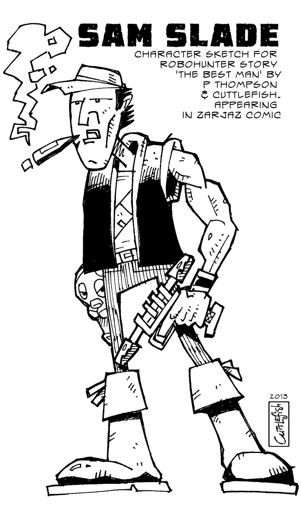 Sam Slade Robohunter Sketch