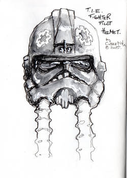 T.I.E. Fighter Helmet Sketch