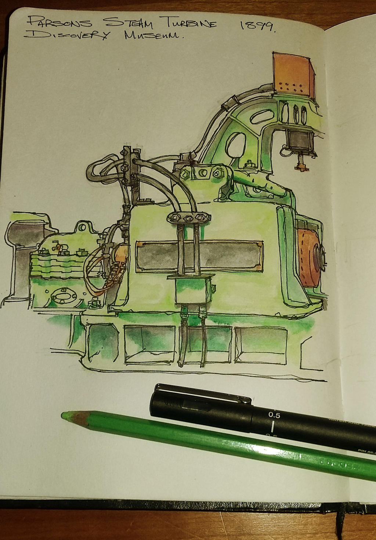 Steam Turbine by m99art