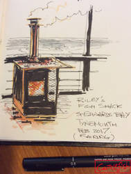 Breakfast at Riley's Fish Shack Tynemouth by m99art