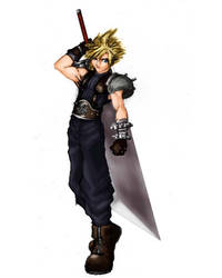 cloud inspired by ff7 movie by mmxT