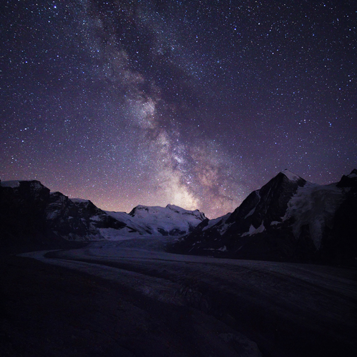 Grand Combin and Milky Way by Arafinwearcamenel