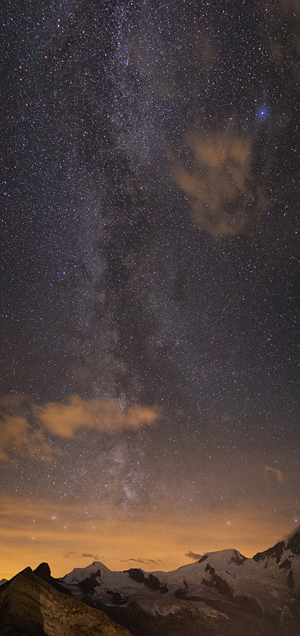 Allalinhorn, Alphubel and Milky Way by Arafinwearcamenel