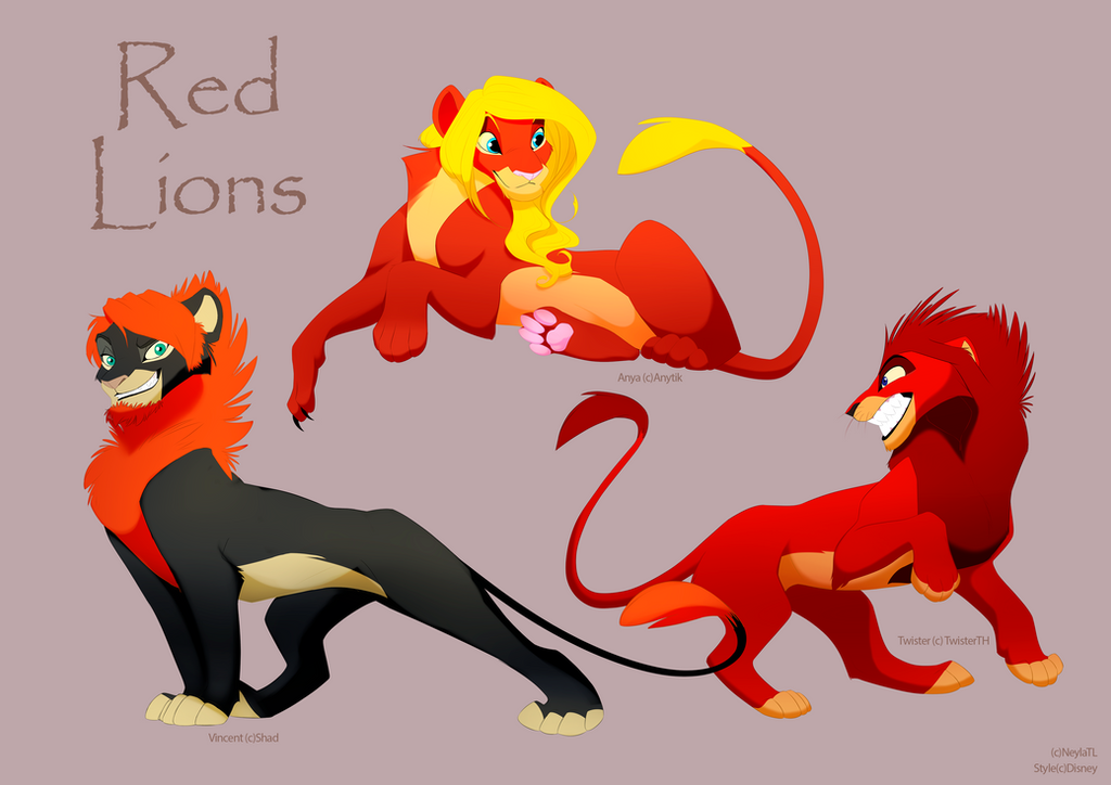 The Lion King Part Ii Red Lions By Neylatl On Deviantart