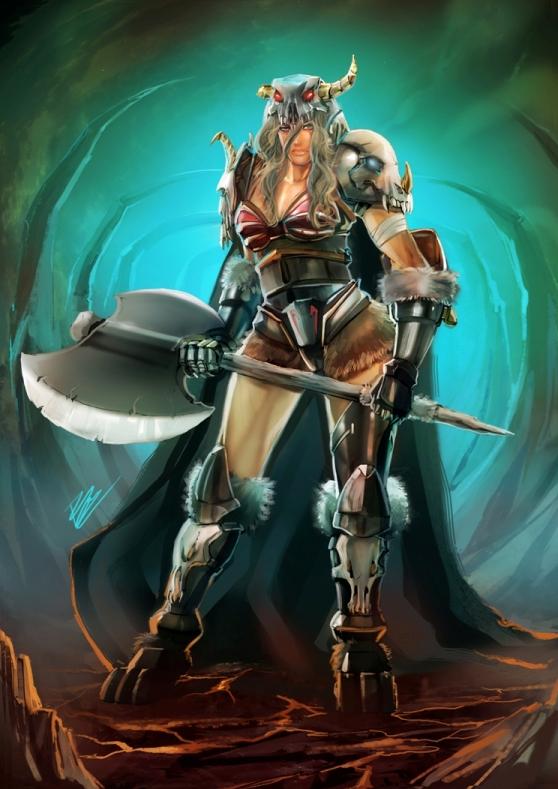 comm: female barbarian by unrealsmoker