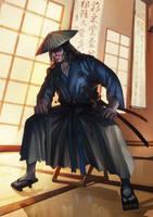 comm: L5R Kuni Samurai by BramastaAji