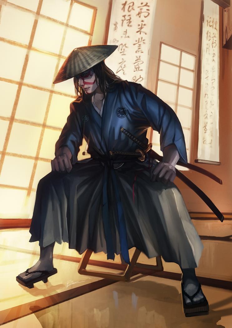 comm: L5R Kuni Samurai by unrealsmoker