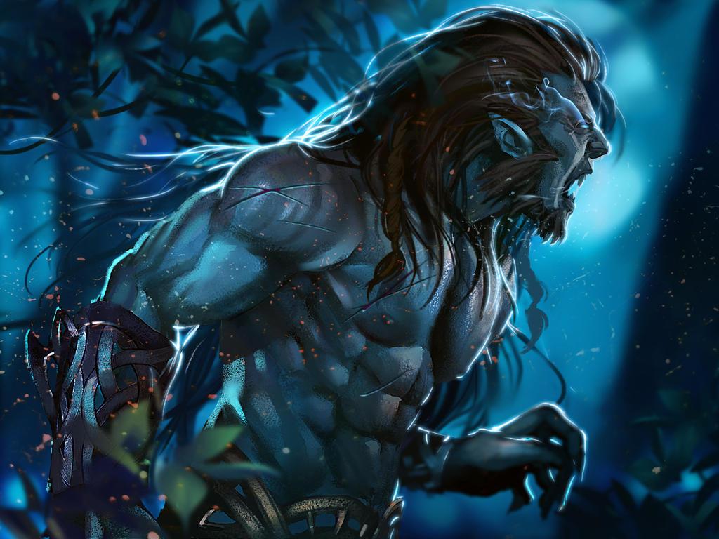 comm: draconis werewolf by unrealsmoker