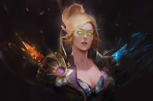 blood elf by BramastaAji