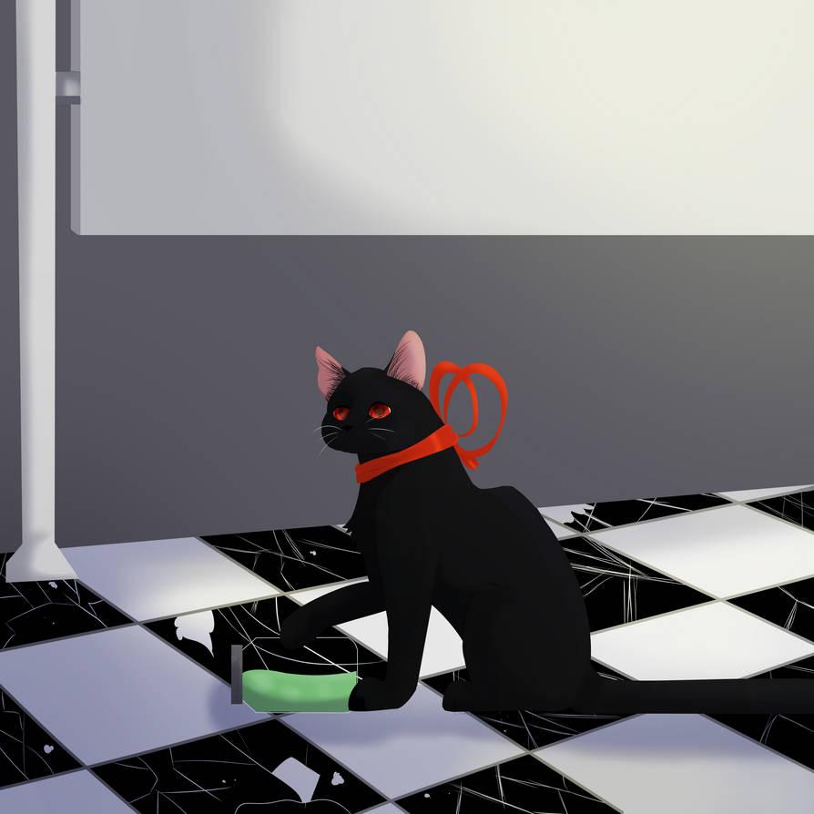 Thanks kitty... { Fanart }