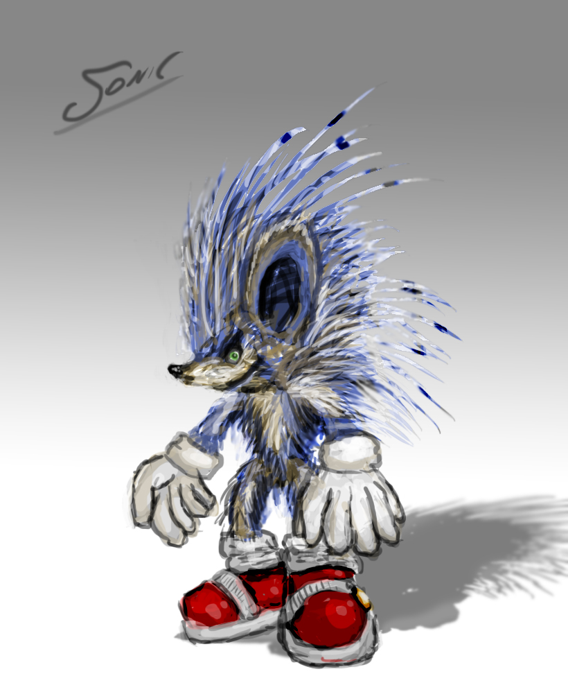 Sonic Realistic Design By Entertheplace On Deviantart