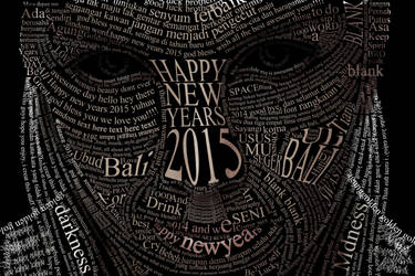typography - Under Word (happy new years 2015)