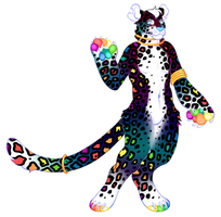 Rainbow Leopard Custom! by feltstickers