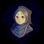 Girl in Sakura Hijab by LotusMrPiece