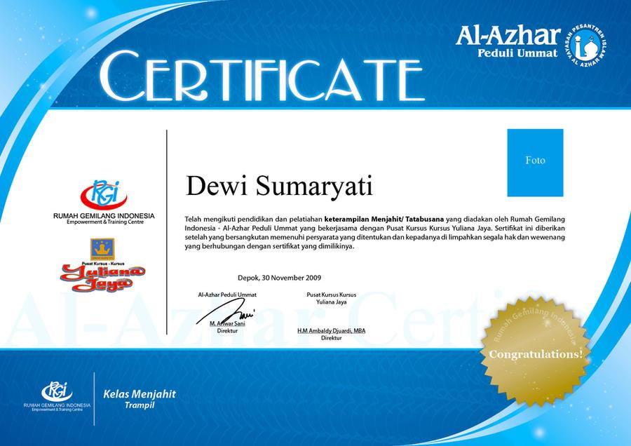 Sertifikat Menjahit By Sahabataufiq On Deviantart