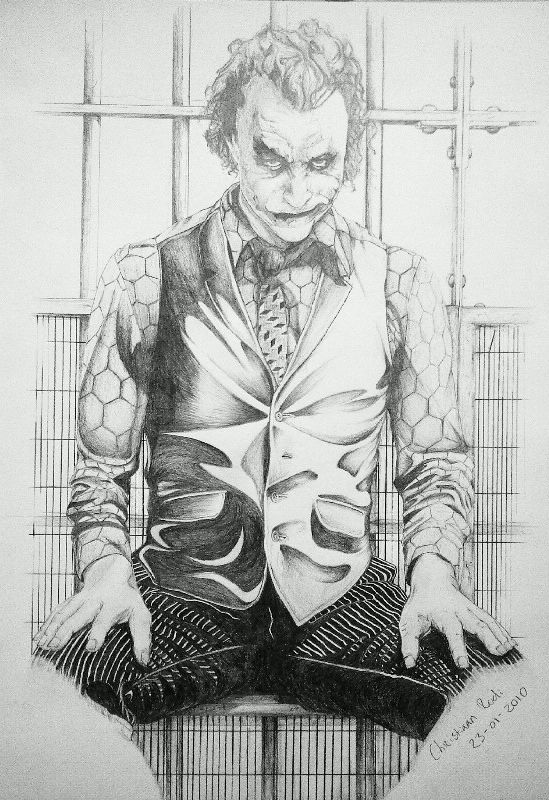 Joker Drawing 23-01-2010 by ChristiaanR1990