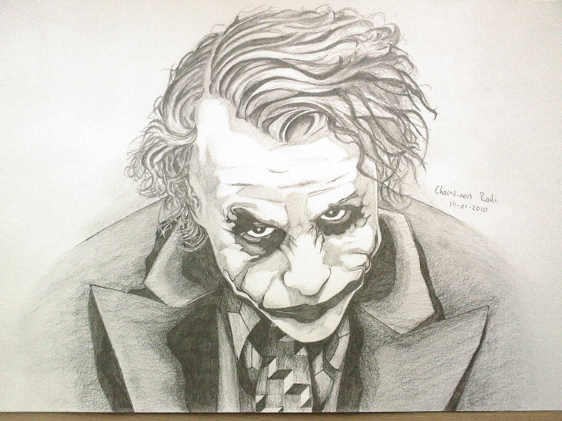 Joker Scribble Drawing : Joker drawing by christiaanr on deviantart
