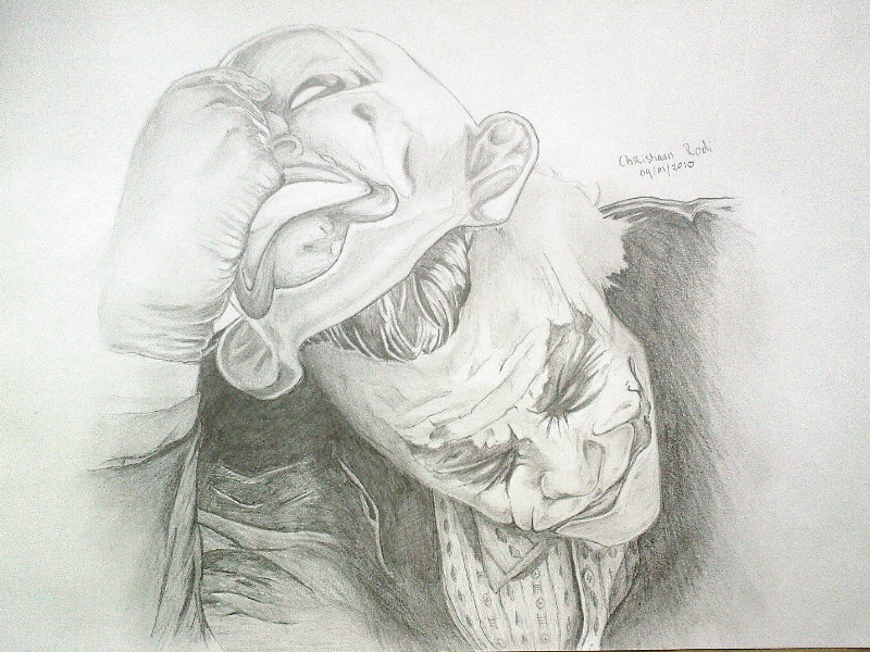 Joker Drawing 09-1-2010 by ChristiaanR1990