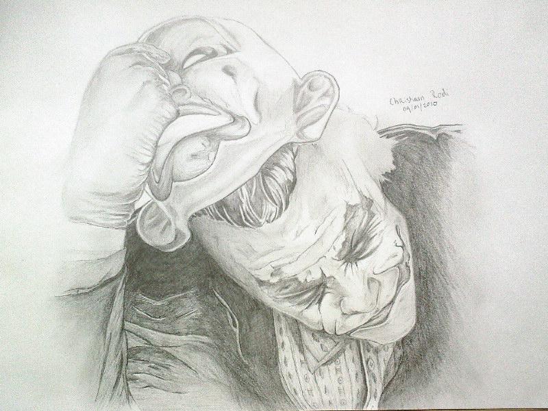 Gangster Joker Drawings In Pencil