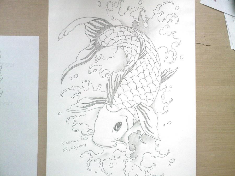 Koi fish 2 05 2009 by christiaanr1990 on deviantart for Koi fish drawing