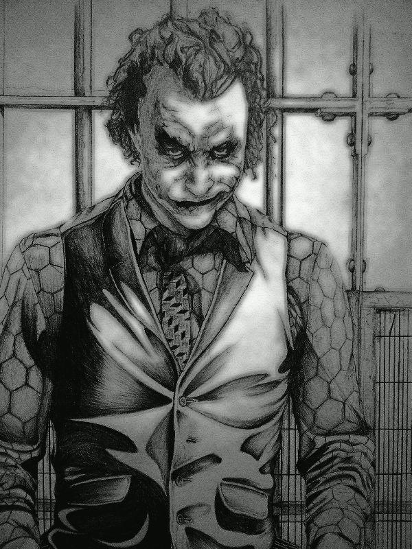 Joker Scribble Drawing : Edit joker drawing by christiaanr on deviantart