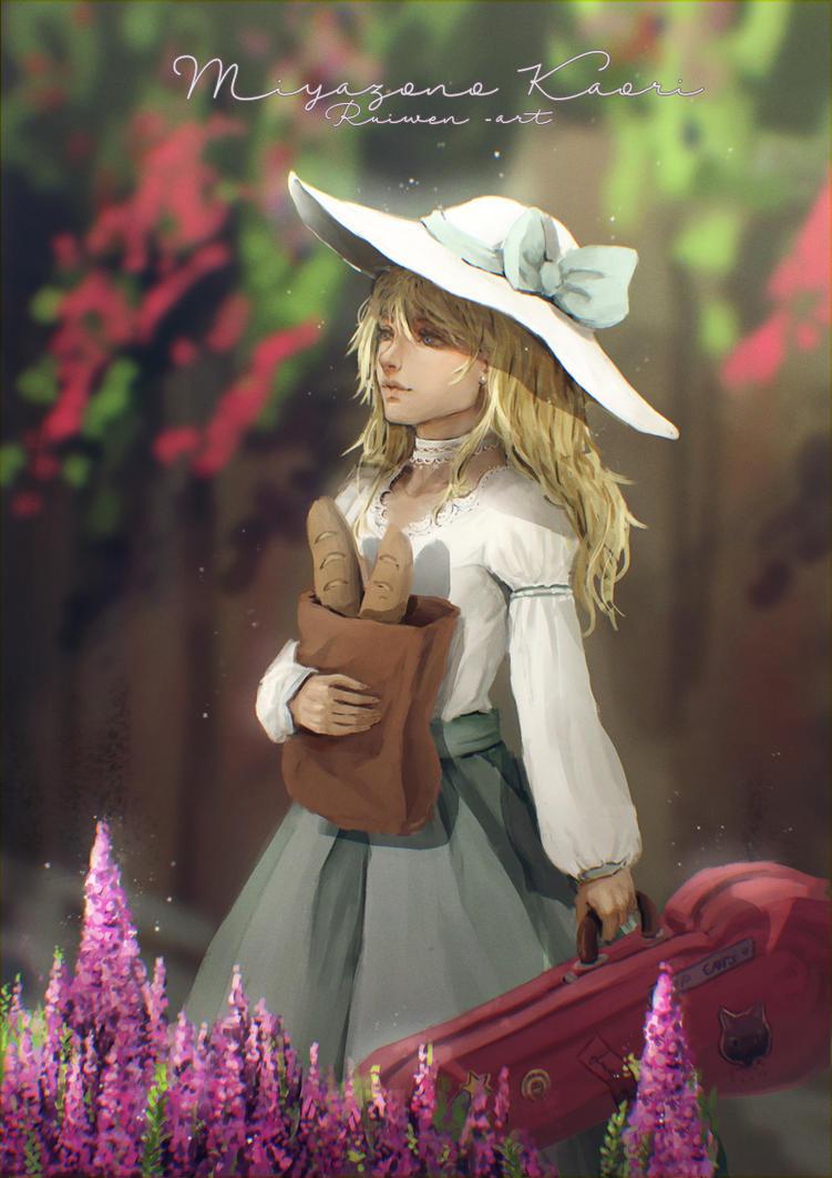 Miyazono Kaori by Ruiwen-art
