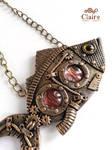 Steampunk fish pendant