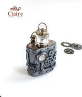 Steampunk Flask by ClaireSteampunk