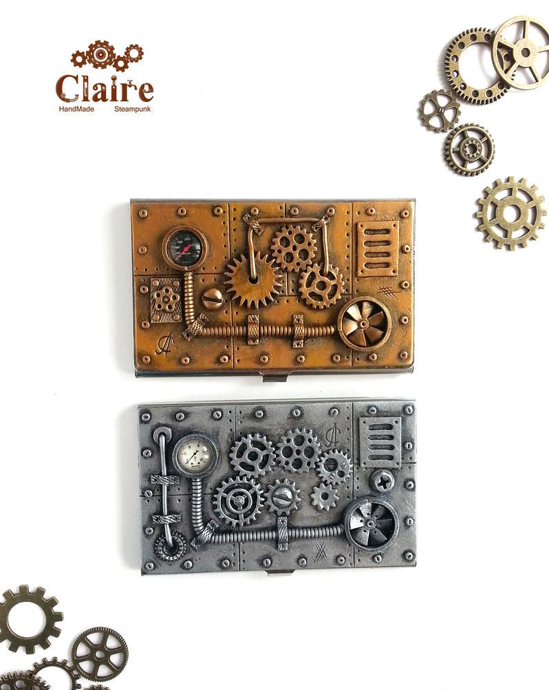 Steampunk Business Card Holder by ClaireSteampunk on DeviantArt