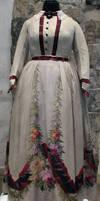 Flowery Victorian Dress Stock