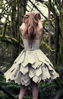 Paper Dress Back by Swimming-Up-Currents