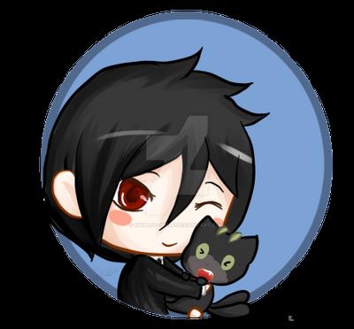 Sebastian and Kuro by inkblot-wolf