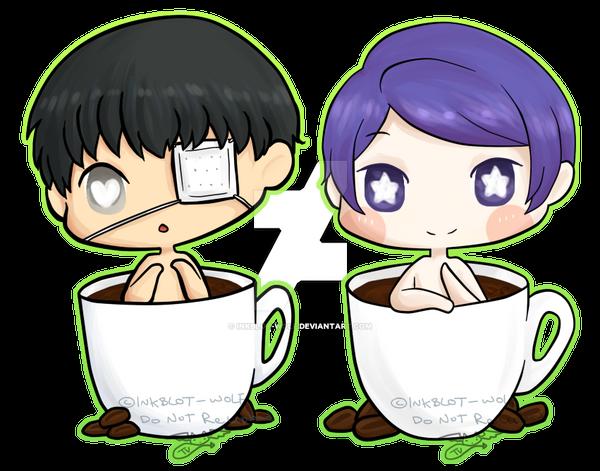 [FA] Tsukiyama and Kaneki in a cup by inkblot-wolf