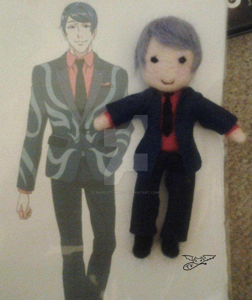 [FA]TokyoGhoul: Tsukiyama felted doll by inkblot-wolf
